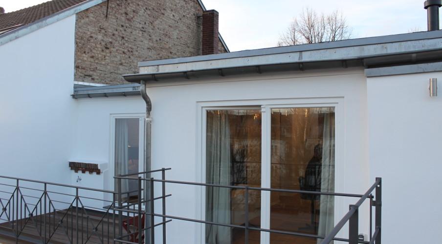 Blick auf die Terrassenwohnung