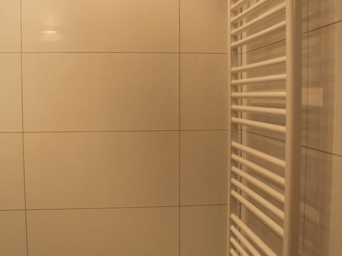 Beheizbarer Handtuchhalter im Bad