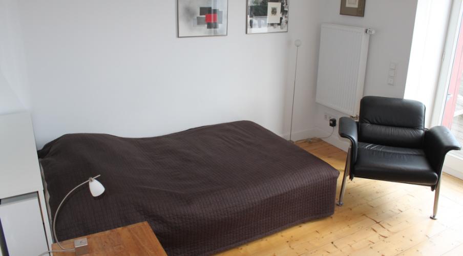 Gartenwohnung: Das Schlafzimmer